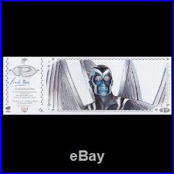 2017 Upper Deck Marvel Premier FRED IAN Psylocke/Angel 4 panel Sketch