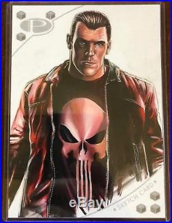2017 Upper Deck Marvel Premier Fred Ian Punisher 5x7 Sketch Card MASTERPIECE