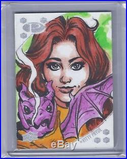2017 Upper Deck Marvel Premier Joe Jusko Kitty Pryde Original Art Sketch Card