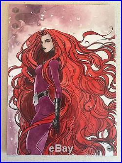 2017 Upper Deck Marvel Premier Medusa 5x7 Jumbo Sketch Card by Lydi Li Tubillara