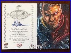 2017 Upper Deck Marvel Premier Mick Matt Glebe Cable Dual Panel Sketch Card