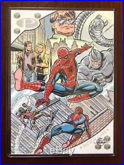 2017 Upper Deck Marvel Premier Mitch Ballard Spider-Man Rhino 5x7 Jumbo Sketch