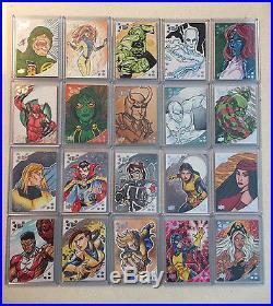 2017 Upper Deck Marvel Premier Sketch Card Lot of 20 Dorman Wojik Justus Geneta