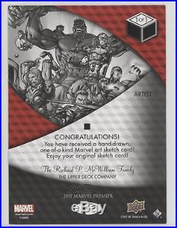 2017 Upper Deck Marvel Premier Sketch Cards 5 x 7 SKT-5X7 Mitch Ballard Card c5t