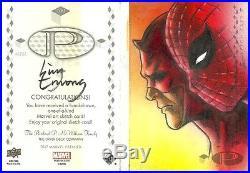 2017 Upperdeck Marvel Premier Spider-man Daredevil 2 panel sketch Huy Truong 1/1