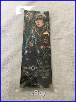2017 marvel premier sketch card By Melike Acar Quad Of The Inhumans Stunning Art
