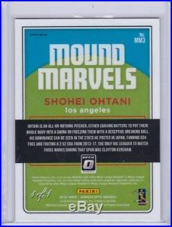 2018 Donruss Optic Shohei Ohtani Mound Marvels Gold Vinyl 1/1 Superfractor