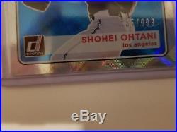 2018 Donruss Shohei Otani Mound Marvels Parallel #755/999