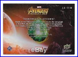 2018 Marvel Avengers Infinity War Autograph II-TH Tom Holland as Spider-Man SSP