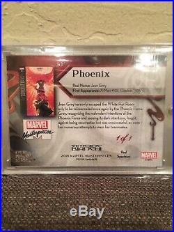 2018 Marvel Masterpieces 1/1 PHOENIX RED SPECTRUM (#83) Tier 4, Mint! Upper Deck