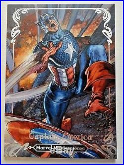 2018 Marvel Masterpieces Captain America Tier 4 Base Card #'d 86/99