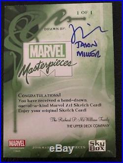 2018 Marvel Masterpieces GAMBIT Sketch Card Artist JASON MILLER 1/1