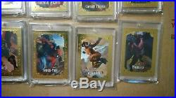 2018 Marvel Masterpieces Gold Gallery Set