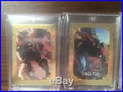 2018 Marvel Masterpieces Gold Gallery Set Spider-man Wolverine Hulk Thor /99