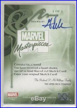 2018 Marvel Masterpieces MICK AND MATT GLEBE SKETCH CARD IRON SPIDER-MAN