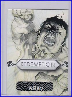2018 Marvel Masterpieces Preliminary Sketch Art Redemption Simone Bianchi 1/1