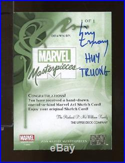 2018 Marvel Masterpieces ROCKET RACOON Sketch Card HUY TRUONG 1/1 (NV7)