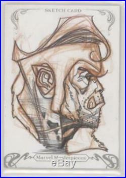2018 Marvel Masterpieces Sabertooth Sketch Card SIMONE BIANCHI Signed Redemption