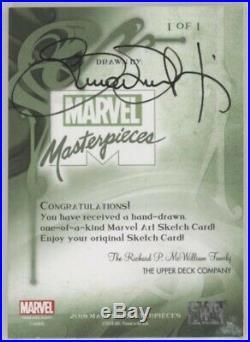 2018 Marvel Masterpieces Simone Bianchi Elektra Sketch Card