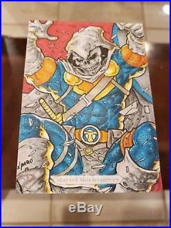 2018 Marvel Masterpieces Taskmaster Sketch By Norvien Basio 1/1 Auto