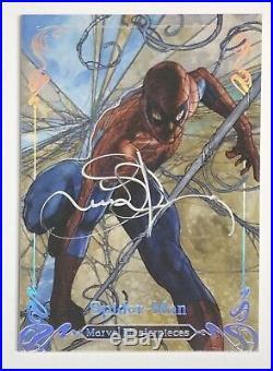 2018 Marvel Masterpieces Tier 4 Silver Spectrum Autograph Spider-Man #05/10 Auto