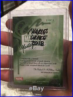2018 Marvel Masterpieces Wolverine Sketch Card by Charles Drake