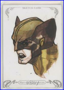 2018 Marvel Masterpieces Wolverine Sketch card by SIMONE BIANCHI 1/1
