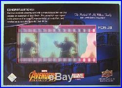 2018 UD Marvel Avengers Infinity War Josh Brolin Auto /100 Thanos Film Cels