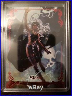 2018 UD Marvel Masterpieces #67 Storm Red Spectrum 1/1 WOW