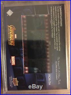 2018 Ud Marvel Avengers Infinity War Film Cel Auto Tom Holland Spider-man /100