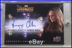 2018 Upper Deck Marvel Avengers Infinity War ELIZABETH OLSEN Scarlet Witch Auto