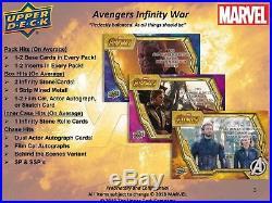 2018 Upper Deck Marvel Avengers Infinity War Hobby Box Sealed Free Shipping