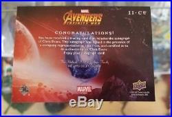 2018 Upper Deck Marvel Infinity War Chris Evans Autograph II-CE