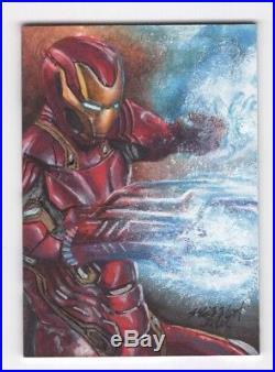 2018 Upper Deck Marvel Masterpieces Artist Sketch Card Iron Man Mick Matt Glebe