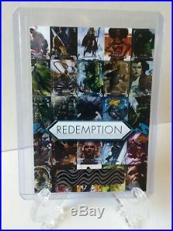 2018 Upper Deck Marvel Masterpieces Base Set Uncut Sheet Unscratched Redemption