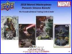 2018 Upper Deck Marvel Masterpieces Hobby Box PRESALE 10/17/18