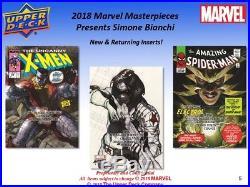 2018 Upper Deck Marvel Masterpieces Hobby Box PRESALE 10/31/18