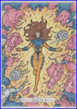 2018 Upper Deck Marvel Masterpieces Jean Grey Sketch Card By Norvien Basio