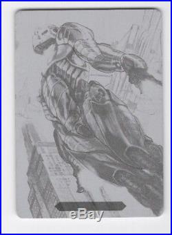 2018 Upper Deck Marvel Masterpieces Printing Plate Tier 4 #89 Iron Man SP #1/1