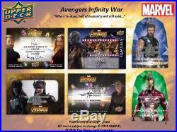 2018 Upper Deck UD Marvel Avengers Infinity War Hobby Case 16x Boxes Presale