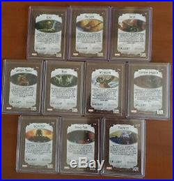 2018 marvel masterpieces Gold Gallery Canvas Parallel Set Cards 91-100