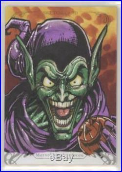 2018 marvel masterpieces sketch Card Green Goblin By Chris Meeks
