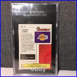 2019-2020 Panini Donruss Net Marvels #19 LeBron James Lakers SGC 9 MINT SP