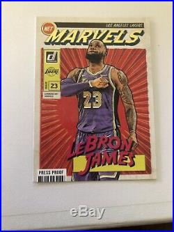 2019-20 DONRUSS LEBRON JAMES LOT MARVELS SP LAKERS! With Press proof RARE