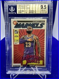 2019-20 Donruss Lebron James Net Marvels #19 Bgs 9.5 Gem Mint La Lakers Psa Zion
