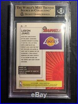 2019-20 Donruss Lebron James Net Marvels #19 Bgs 9.5 True Gem Mint La Lakers Psa