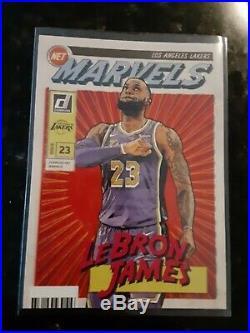 2019-20 Donruss Lebron James Net Marvels SP Insert Card