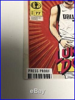 2019-20 Donruss Luka Doncic Net Marvels Gold Press Proof SSP Mavericks