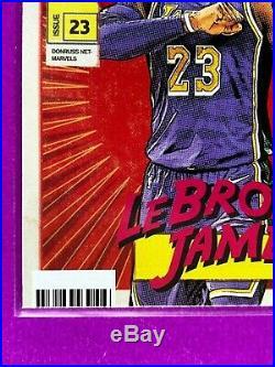 2019-20 Donruss Net-MARVELS Comic Book Style Issue 23 LeBRON JAMES #19, S. Print