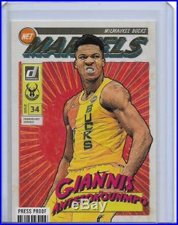 2019-20 Donruss Net Marvels #11 Giannis Antetokounmpo Press Proof Gold